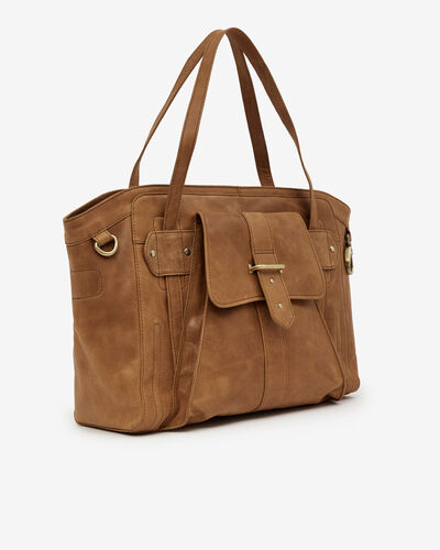 SAC GRAND VOLUME SILIVA, COGNAC