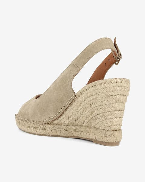 COMPENSEES PEEP TOES LAPSI, TAUPE