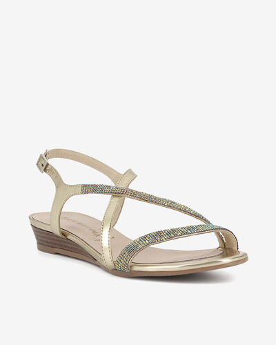 SANDALES MOFILA/STRASS, OR