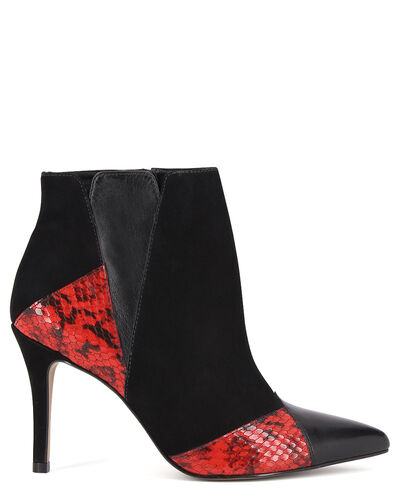 BOOTS BERI/SNAKE, ROUGE