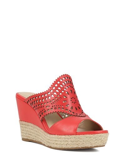 SANDALES COMPENSEES ELOMA, COQUELICOT
