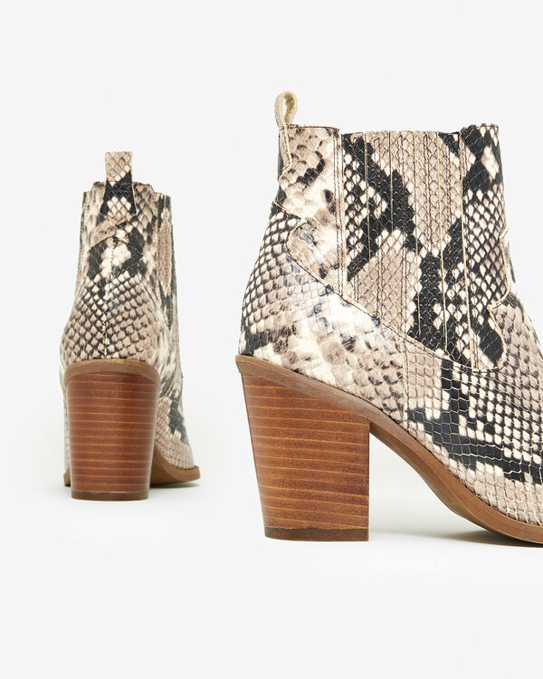 BOOTS AGUEDA/SNAKE, BEIGE MULTICOLORE