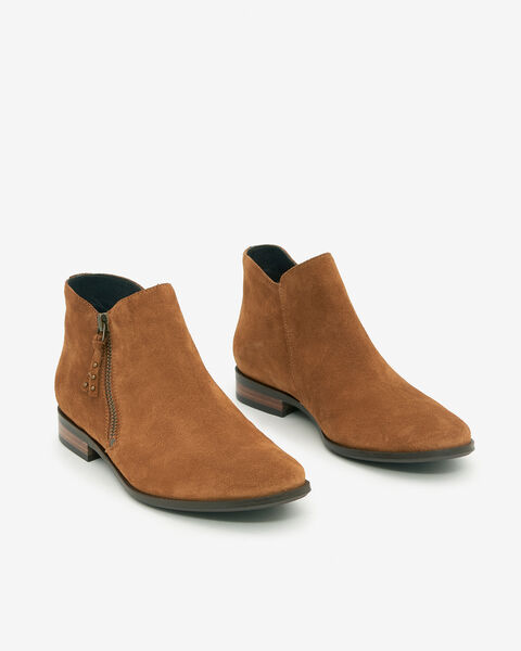 BOOTS ARCHY/VEL, CAMEL