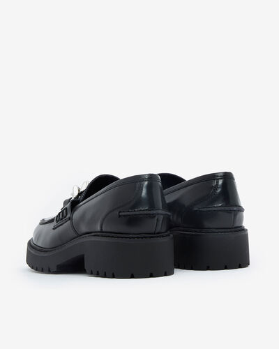 MOCASSINS LORA/CHAIN, NOIR