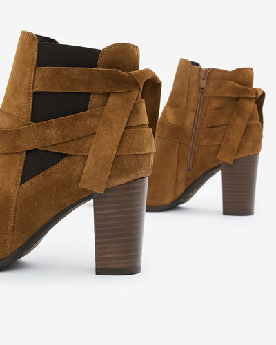BOOTS AULIP/VEL, CANNELLE