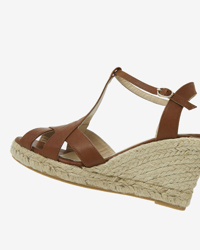 SANDALE COMPENSEE LUPIZA, CAMEL