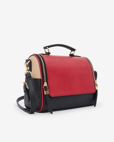 SAC BRIDA, ROUGE MULTICOLORE