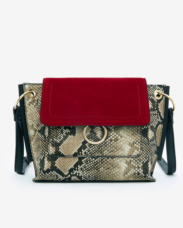 SAC BENT/SERP, ROUGE MULTICOLORE