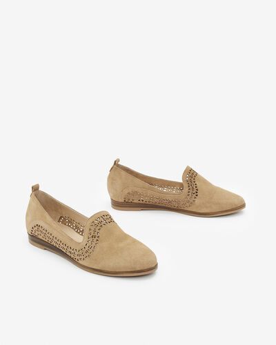 SLIPPER MARSINA/LAS/VEL, SABLE