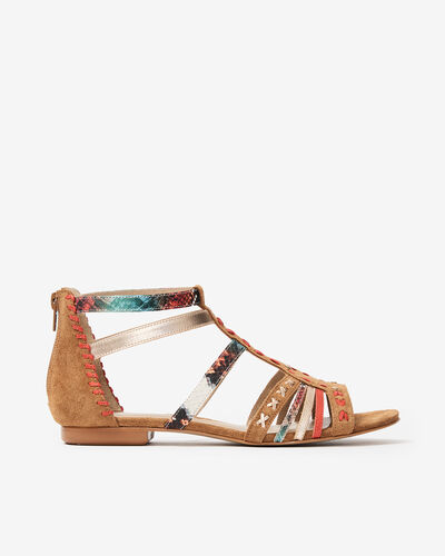 SANDALES EDNA/TRIBAL, MULTICOLORE