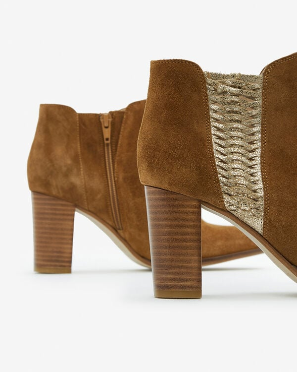 BOOTS AULIKO/VEL, CAMEL OR