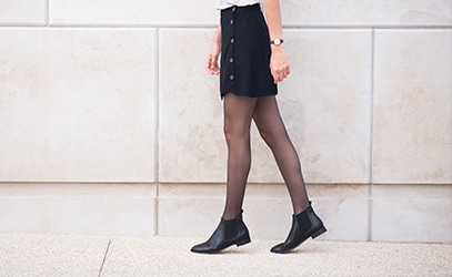 Socquettes mi-bas et collants